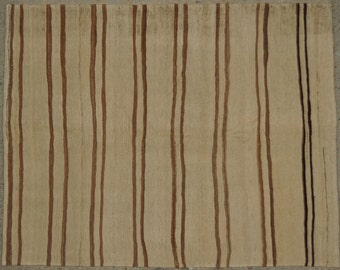 Pinstripes / Minimalist Vintage Turkish Striped Kilim / Konya-Karapinar / 4'x5' / 122x154cm