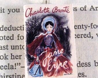 Miniature Classic Novels Book Necklace Charm Jane Eyre Version 3