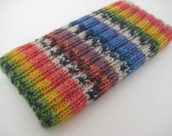 hand knitted wool iPhone 5 sock cosy