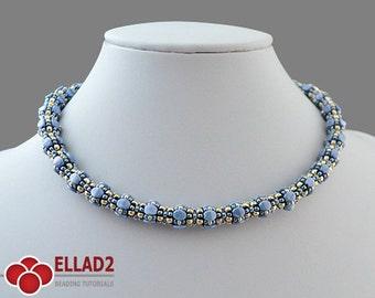 Beading Tutorial Mala Necklace-Beading pattern,Instant download, Ellad2, Jewelry tutorials