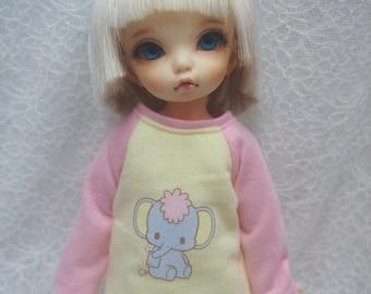 Super Dollfie Yo SD Littlefee Yellow Sweater - Elephant