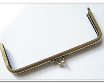10 pieces  6 inch rectangle antique brass purse frame  (purse making supplies)