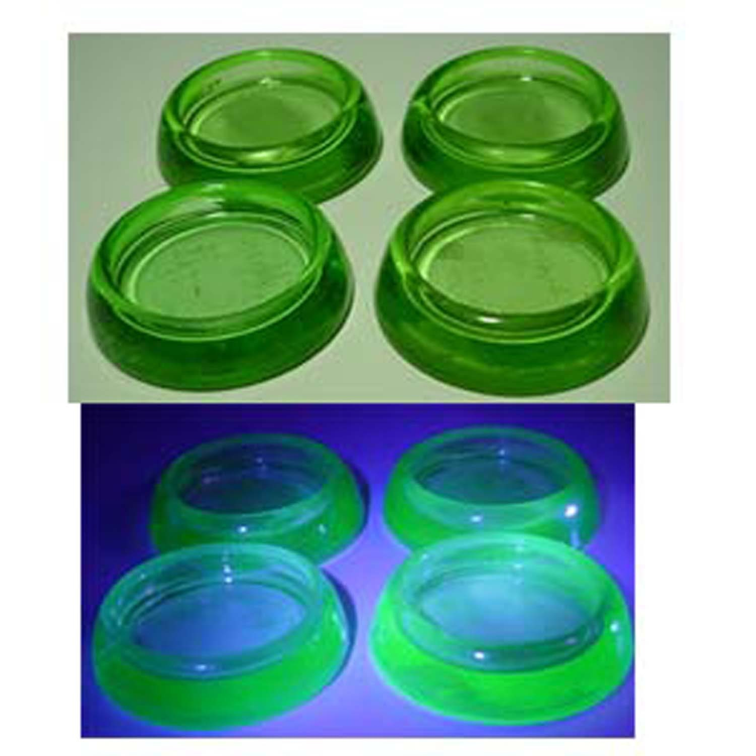 Uranium Vaseline Glass Four Furniture Coasters Or Sliders Hazel Atlas Home And Garden Household