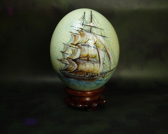 Special Order, Hand Painted Ostrich Egg, Egg Art