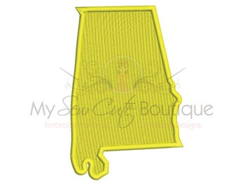 Alabama Embroidery Designs - 10 Sizes - Instant Download