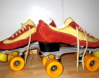 Vintage Disco Roller Skates. Women's 8 / Men's 6.5.  / 1970s Roller Skates.  Disco Cruiser Skates.  70s. Roller Skates.  70s Party.