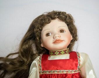 Natasha - Russian Girl - Vintage Porcelain Doll