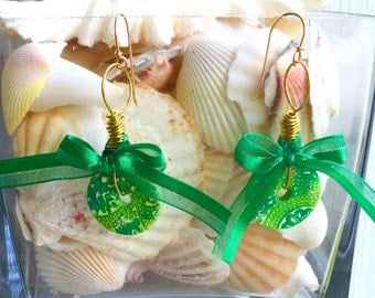 Green Summer Earrings