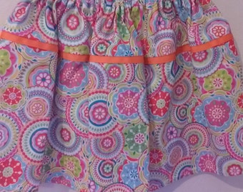 Toddlers Skirt Paisley Print One of A Kind Girls Twirl Skirt
