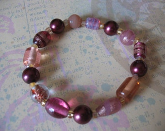 Pretty in Pink Beaded Bracelet