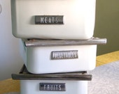 Enamelware Fridge Drawers