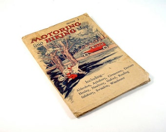 1930s British Motoring and Hiking Map
