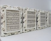 Ornate Picture Frames, Set of Four Shabby Chic Cream Picture Frames