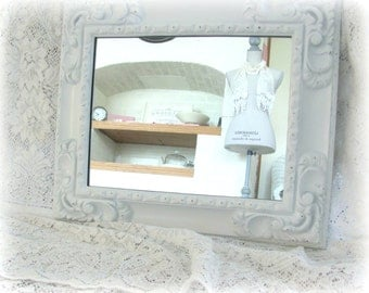 Vintage Wall Mirror, Ornate White Vintage Turner Mirror, Large Shabby Chic Mirror