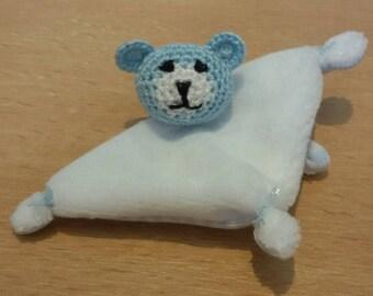 Mini amigurumi cuddly bear approx. 2 3/4 inches