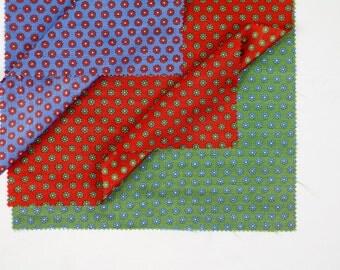 Vintage Fabric / 1960s Fabric / 1970s Fabric / Fabric Samples / Mod Dress Fabric Op Art Print 60s Fabric 70s Celanese Deadstock