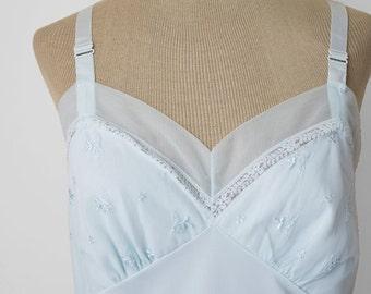 mint green VINTAGE 1960s full lingerie slip by ROGERS sz 36