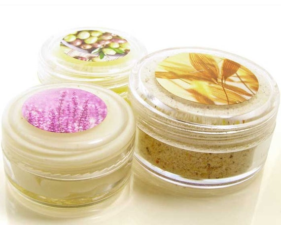 Natural Skincare Sample Combination, 3 different samples
