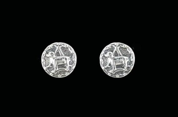 Sterling Silver Zodiac Earrings Aries