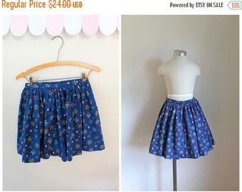 40% OFF back2school SALE vintage 1950s little girl's skirt - FOLKLORE floral full skirt / 7-8yr