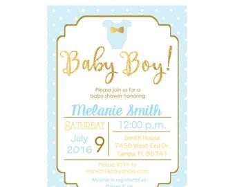 Baby boy Baby shower invitation, baby boy, shower invitation, boy, its a boy, custom and printable
