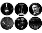 """Large 2.25"""" Nikola Tesla Magnet Set"""