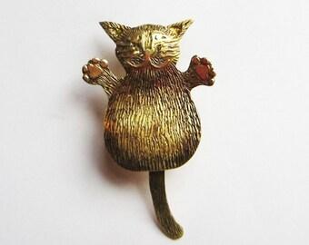 tiny cat brooch