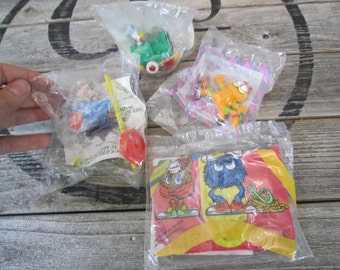 Vintage 80s McDonald's Happy Meal Mix Toys Garfield Floatie Chip n Dale Donald Duck