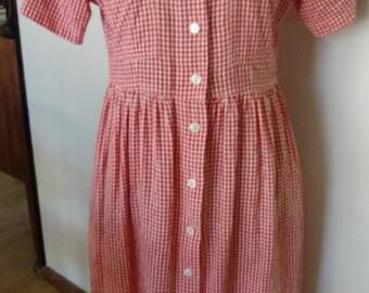Retro Gingham Dress
