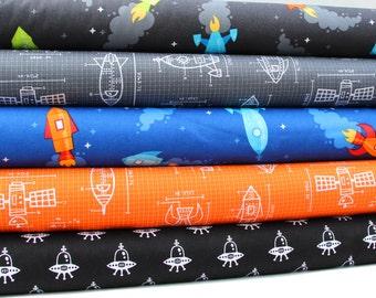 Spaced Out Fat Quarter Bundle - Caleb Gray for Robert Kaufman Fabrics