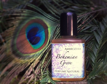 Natural Perfume Oil For Men BOHEMIAN GROVE - Cypress, Cedarwood, Amyris, Tonka Bean, Fossilized Amber, Tobacco, Jasmine, Lime