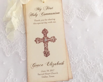 First Communion Favors Holy Communion Favor Bookmarks Favors Set of 10