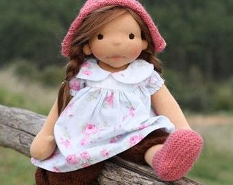"""Waldorf doll Wen 18"""" Gifts for Girls, Children, birthday, OOAK dolls"""