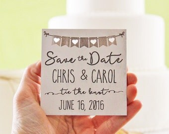 Wood Save the Date Magnet, Wedding Announcement, Wood Save the Date, Rustic Wedding Announcement