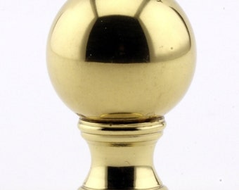 LAMP FINIAL sphere polished brass