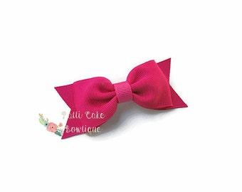 Girls Hair Bows, Shocking Pink Hair Bow, Hair Bow Clip, Toddler Hair Bow, Non Slip Hair Clip, Baby Girls Hair Bow, Baby Hair Clips, 41