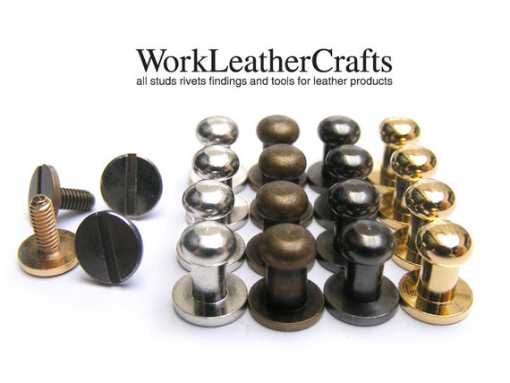 5sets 5mm HEAD, mini Button Studs Stand Leather Screw back for DIY Craft / HIGH Quality