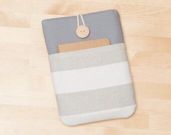 ipad mini case / ipad mini cover / ipad mini sleeve / ipad mini 4 case - Grey stripes  -