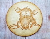 Mouse Stickers Rustic Vintage Style Woodland Mice Cardstock