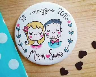 Custom order Magnets - wedding favors with personalized cartoon portrait