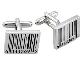 Barcode Cufflinks Silver Cuff links 1200292