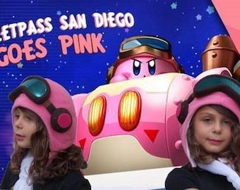 Kirby Planet Robobot Hat - Pink Fleece  Cosplay Hat