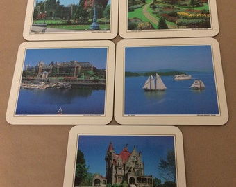 Set of 5 Vintage Table Mats From Canada
