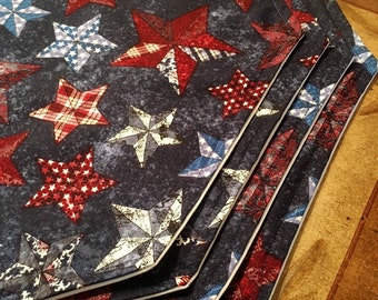 Country Placemats | Texas Placemats | Patriotic Table Linens | Country Home | Texas Stars | 4th of July Placemats