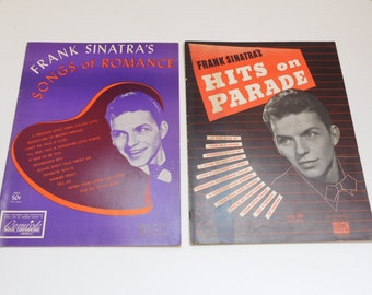 Vintage Frank Sinatra sheet music collection Memorabilia Ephemera Collectible Songs of Romance Hits on Parade Music Books
