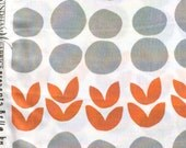 Bella Leaves & Stones orange Lotta Jansdotter FQ or more