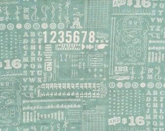 SALE : Cosmo Cricket Odds & Ends junk drawer aqua blue moda fabrics FQ or more