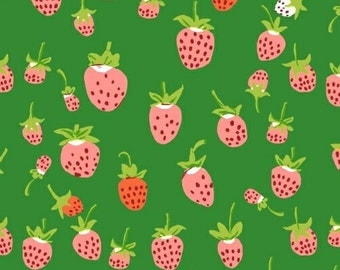 Heather Ross Briar Rose berries green FQ or more OOP HTF