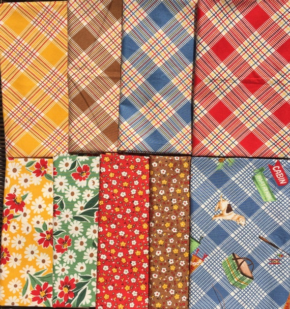 American Jane Happy Campers moda fabrics 9 FQ set