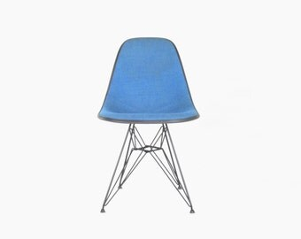 Eames for Herman Miller Eiffel Base Side Chair w/ Alexander Girard Hopsack Upholstery-DSR